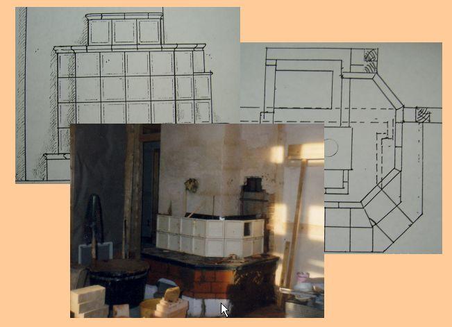 kachelofen mit holzfeuerung. Black Bedroom Furniture Sets. Home Design Ideas