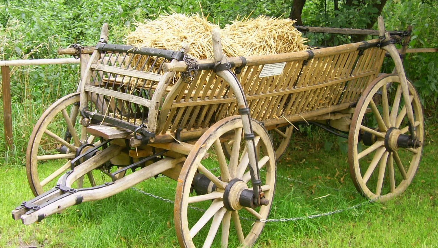 Der Leiterwagen - alles aus HolzLeiterwagen findet man heute nur noch ...