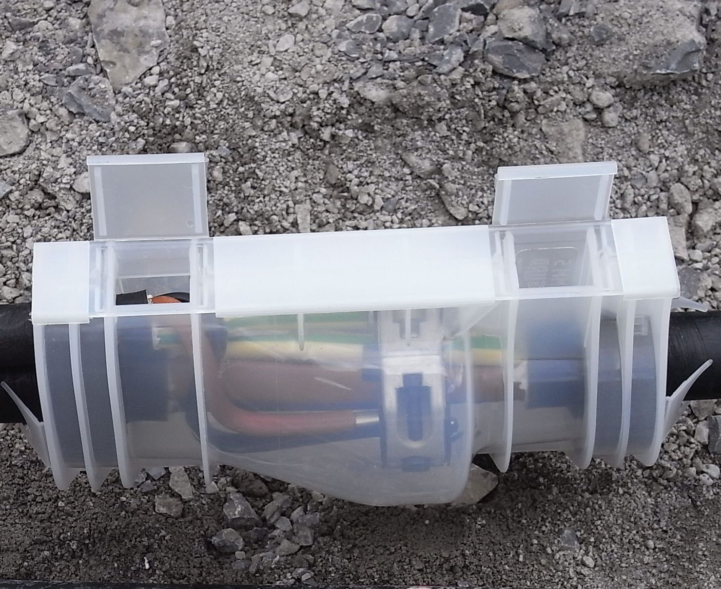 Kabeldose - Wasserdichter Abzweig am Erdkabel
