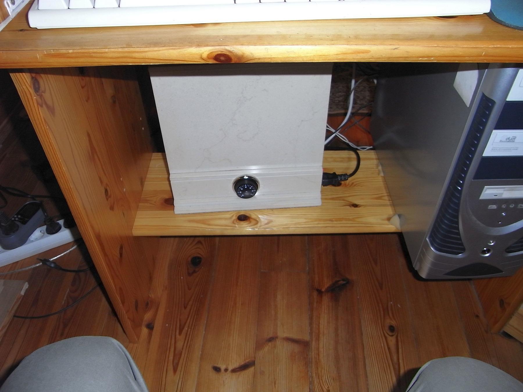heizung unter dem schreibtisch. Black Bedroom Furniture Sets. Home Design Ideas