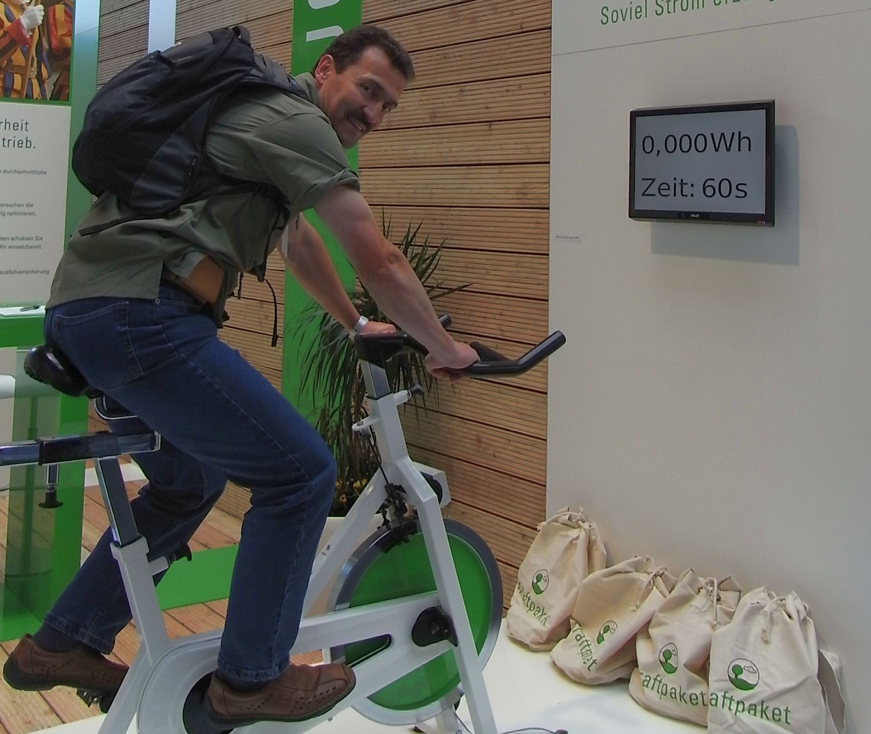 Mit dem Fahrrad Strom erzeugen